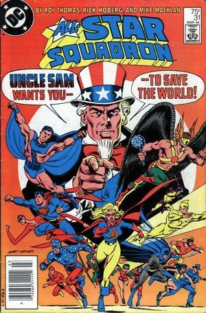 Cover for All-Star Squadron #31 (1984)