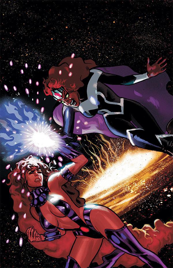 Resultado de imagen para blackfire vs starfire comic