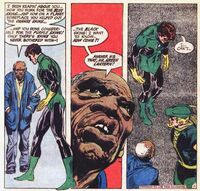 A poor black man challenges Green Lantern's views on civil rights.