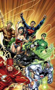 Justice League Vol 2 1 Polybagged Variant Textless