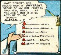 Shazam grants Mary Marvel her powers.