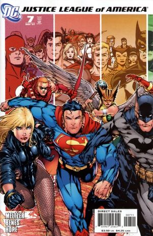 Cover for Justice League of America #7 (2007)