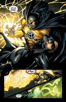 Batman puts on the Sinestro Corps ring
