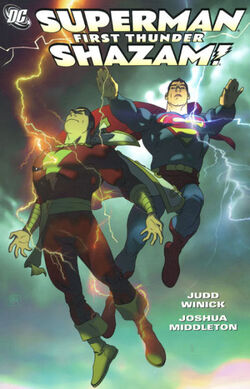 Cover for the Superman/Shazam: First Thunder Trade Paperback