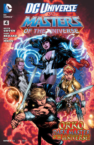 Cover for DC Universe vs. The Masters of the Universe #4 (2014)