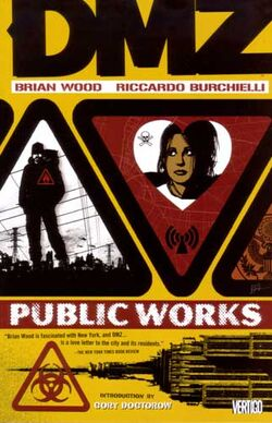 Cover for the DMZ: Public Works Trade Paperback