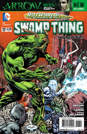 Cover for Swamp Thing #17 (2013)