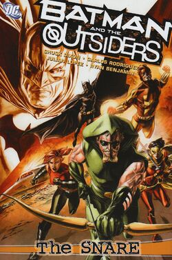 Cover for the Batman and the Outsiders: The Snare Trade Paperback