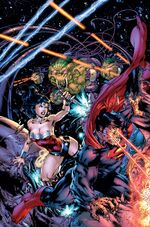 Wonder Woman and SuperDoom fight Braniac