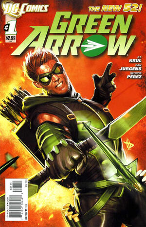 Cover for Green Arrow #1 (2011)