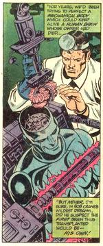 Grayson transplants Crane's brain into his new robot form.