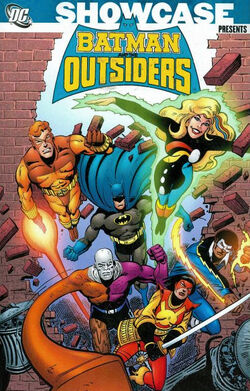 Cover for the Showcase Presents: Batman and the Outsiders Trade Paperback