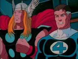 Thor Watches Ego Galactus Battle