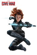 Captain America Civil War promo Black Widow