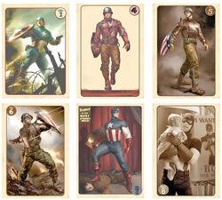 Avengers-Vintage-Captain-America-Trading-Card-Set