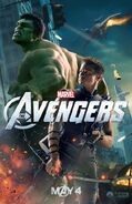 Avengers Poster Hulk and Hawkeye