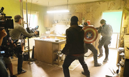 On set Captain America Civil War 4