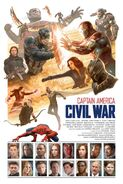 Captain America Civil War by Paolo Rivera