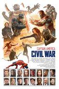 Captain America Civil War by Paolo Rivera
