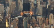 Quinjet flies to NY