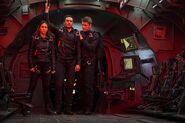 The Team Secret Warriors parachute