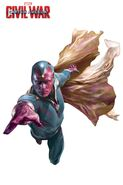 Captain America Civil War promo Vision