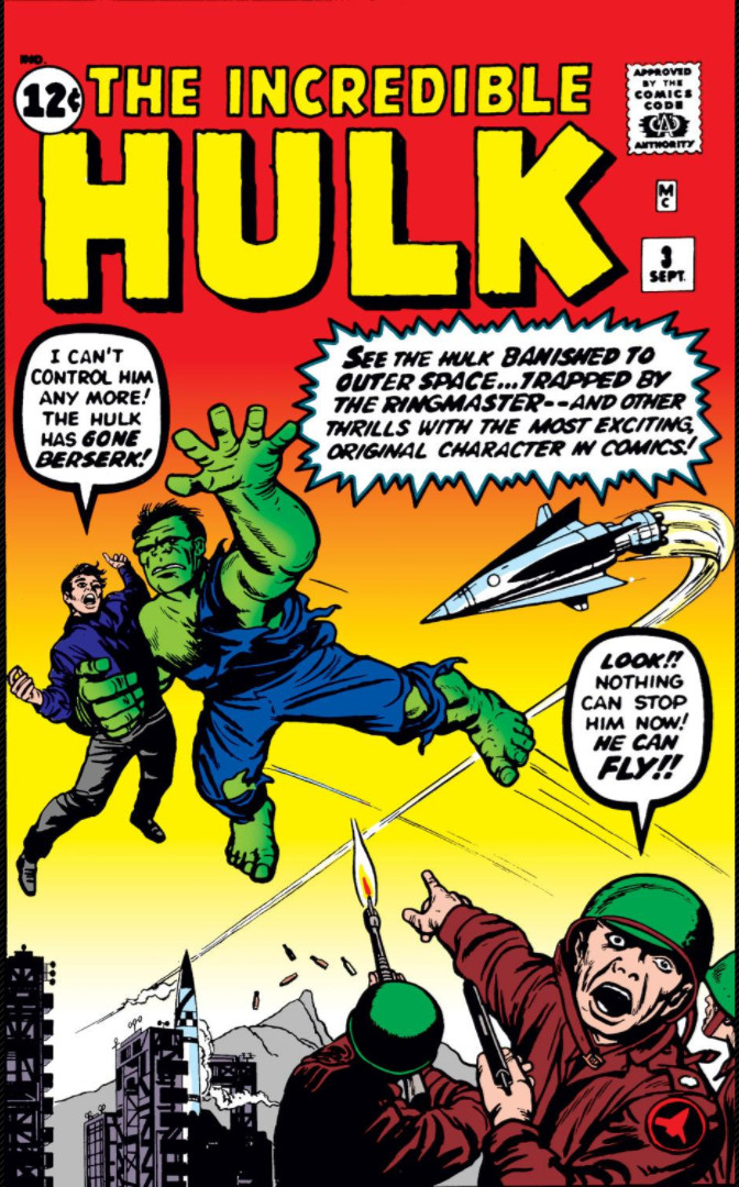 Image result for incredible hulk 3 cover 1962