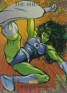 Jennifer Walters (Earth-616) from Marvel Masterpieces Trading Cards 2007 Set 0001