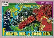 Fantastic Four vs. Victor von Doom (Earth-616) from Marvel Universe Cards Series II 0001