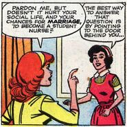 Patricia Walker (Earth-616) and Linda Carter (Earth-616) from Patsy Walker Vol 1 99 001