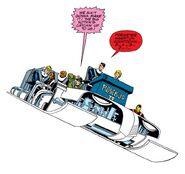 Fanastic Four (Earth-616) riding Rosebud II from Fantastic Four Vol 1 341