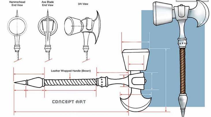 Mjolnir Hammer Symbol
