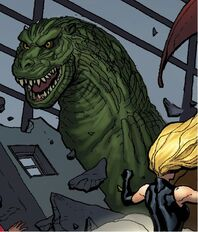 Godzilla (Earth-616) restored to normal from Mighty Avengers Vol 1 1