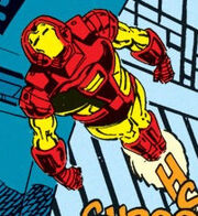 Anthony Stark (Earth-616) with Space Armor MK II from Iron Man Vol 1 278 002