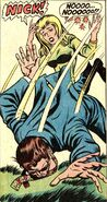 Nick Fury LMD assassinated by Bulls-Eye in Nick Fury Agent of SHIELD Vol 1 15