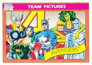 Avengers (Earth-616) from Marvel Universe Cards Series I 0001