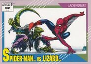 Peter Parker vs. Curtis Connors (Earth-616) from Marvel Universe Cards Series II 0001
