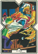 Brian Braddock (Earth-616) and Rachel Summers (Earth-811) from Excalibur Trading Cards 0001
