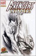 Avengers Invaders Vol 1 3 Variant Sketch