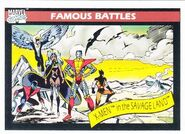 X-Men in the Savage Land (Earth-616) from Marvel Universe Cards Series I 0001