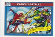 Peter Parker vs. Norman Osborn (Earth-616) from Marvel Universe Cards Series I 0001