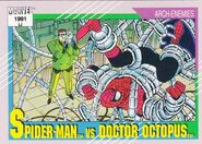 Peter Parker vs. Otto Octavius (Earth-616) from Marvel Universe Cards Series II 0001