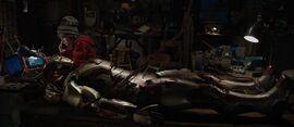 Harley Keener (Earth-199999) and Iron Man Armor MK XLII (Earth-199999) from Iron Man 3 (film) 002