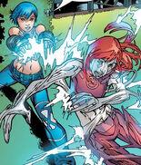 Cessily Kincaid (Earth-616) and Noriko Ashida (Earth-616) from New X-Men Vol 2 6 0001