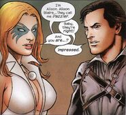 Alison Blaire (Earth-2149) and Ashley J. Williams (Earth-818793) from Marvel Zombies Vs. Army of Darkness Vol 1 2 002
