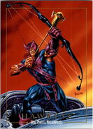 Clinton Barton (Earth-616) from Marvel Masterpieces Trading Cards 1992 0001