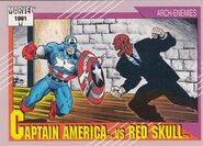Steven Rogers vs. Johann Shmidt (Earth-616) from Marvel Universe Cards Series II 0001