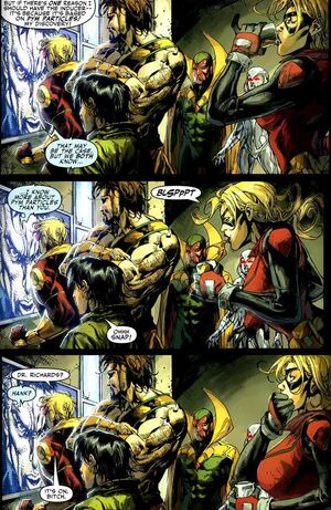 Pym Particles debate from Mighty Avengers Vol 1 25