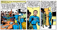 Reed Richards tries to keep his creditors at bay from Fantastic Four Vol 1 9