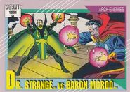 Stephen Strange vs. Karl Mordo (Earth-616) from Marvel Universe Cards Series II 0001